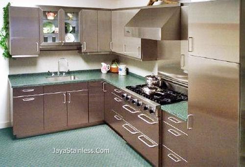 Desain kitchen set stainless 007