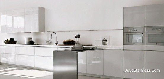 Kitchen set stainless stainless jaya stainless steel for Biaya kitchen set