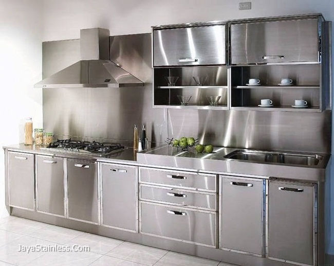 Design kitchen set stainless 001